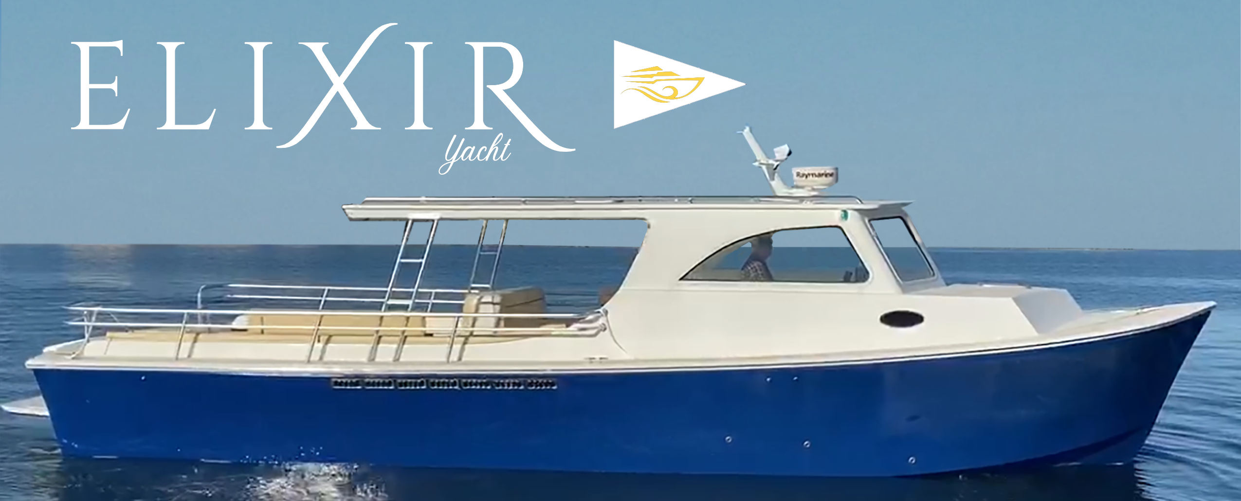"""""""Elixir"""" Luxury Party Yacht for 24 Guests"""